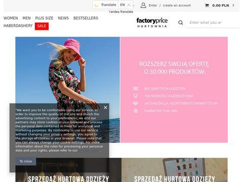 Factoryprice.pl odzież damska sklep