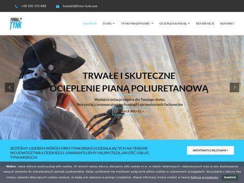 Firma Tynk s.c. tynki wapienne Łódź