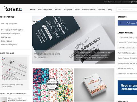 Emske.com Mockup