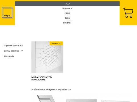 Elega.pl panele gipsowe dekoracyjne