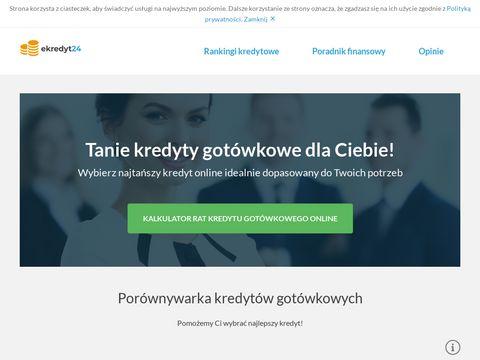 Ekredyt24.com.pl porównaj 23 pożyczki