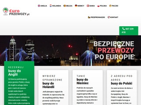 Europrzewozy.pl busy Anglia