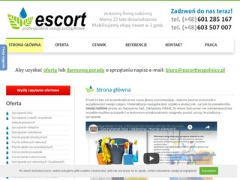 Escortiwspolnicy.pl sprzątanie Warszawa