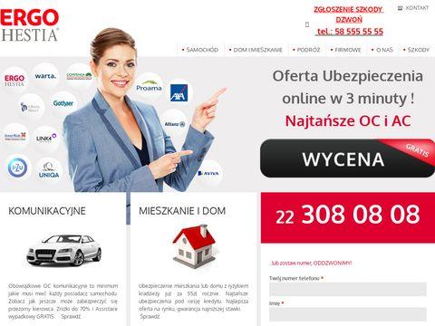 Ergohestia.waw.pl - ubezpieczenia turystyczne