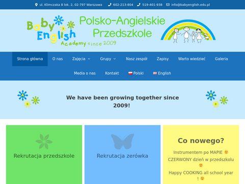 Babyenglish.edu.pl przedszkole językowe
