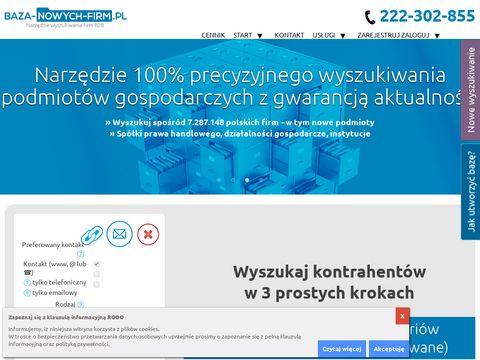 Baza-nowych-firm.pl danych