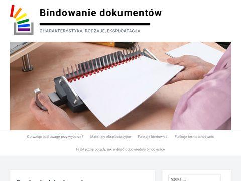 Bindowanie.com.pl rodzaje bindownic