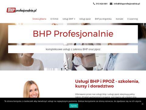 Bhpprofesjonalnie.pl Warszawa z dojazdem