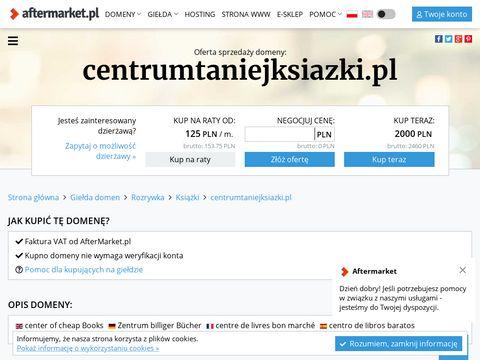 Centrumtaniejksiazki.pl wysyłkowa księgarnia