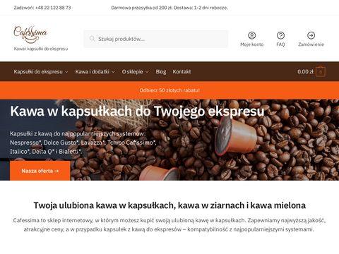 Cafessima.pl kapsułki kawy do ekspresu