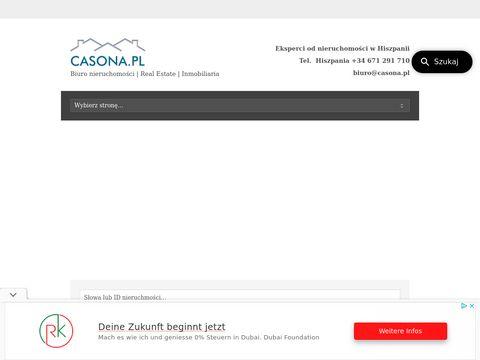 Casona.pl sprzedaż mieszkań w Hiszpanii