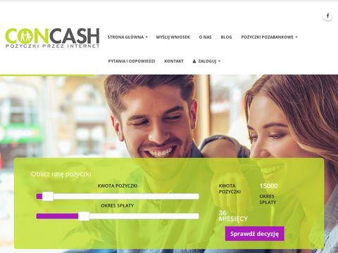Concash.pl pożyczki pozabankowe przez internet
