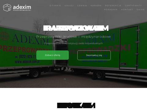 Adexim przeprowadzki Warszawa