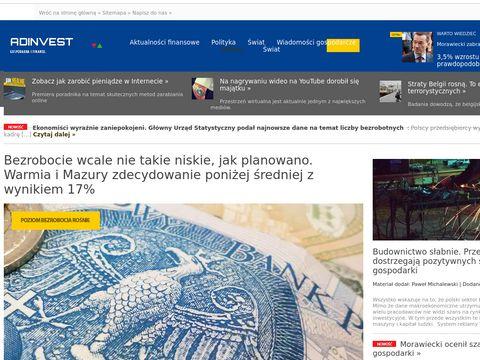 Adinvest.com.pl wiadomości biznesowe