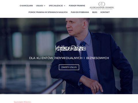 Adwokatdomek.pl kancelaria prawna Bydgoszcz