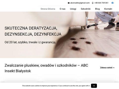 Abcinsekt.pl deratyzacja Białystok