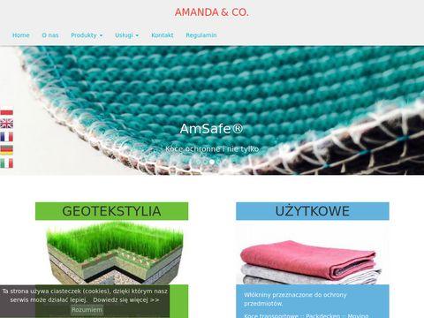 Amanda.net.pl biowłóknina z nasionami traw