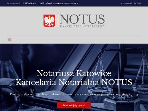Kancelaria notarialna Katowice - notus.org.pl
