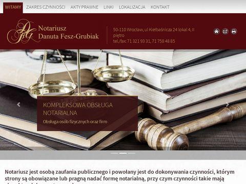 Danuta Fesz Grubiak notariusz Wrocław