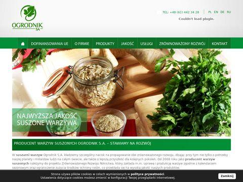 Ogrodnik s.a. - producent suszonych warzyw