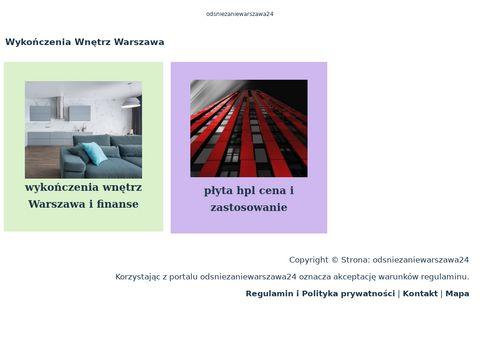 Odsniezaniewarszawa24.pl odśnieżanie dachów