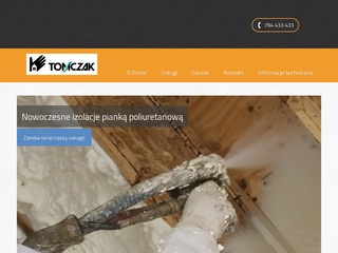 Ocieplenie-poddasza.com.pl pianką poliuretanową