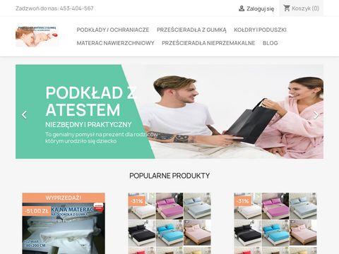 Ochraniacz-na-materac.pl prześcieradło
