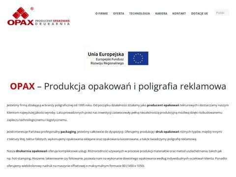 Opax - produkcja opakowań. opakowania