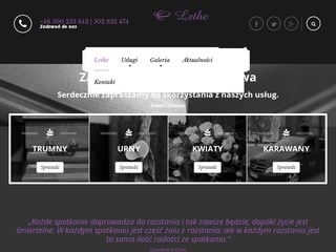 Lethewarszawa.pl zakład pogrzebowy