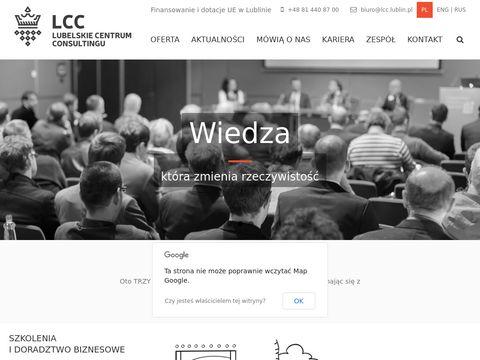 Lcc.lublin.pl szkolenia dofinansowane w Lublinie