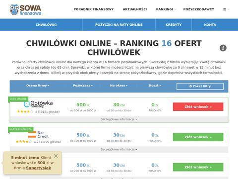 Lowcachwilowek.pl przez internet