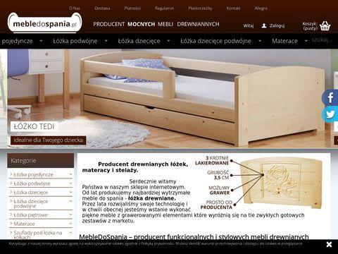 Mebledospania.pl łózka drewniane do sypialni