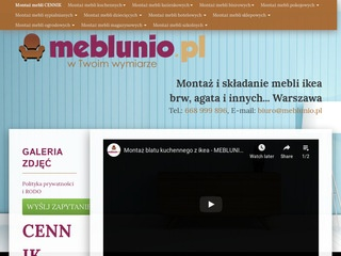 Meblunio.pl montaż mebli ikea Warszawa