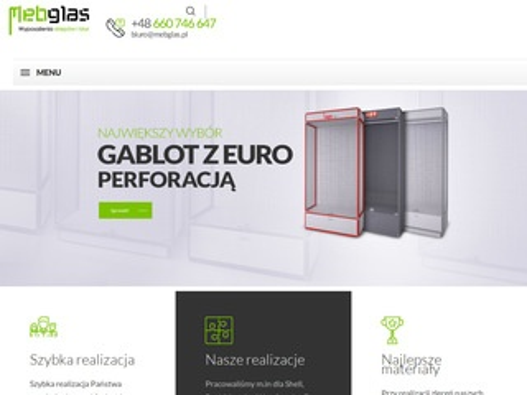 Mebglas.pl gabloty sklepowe