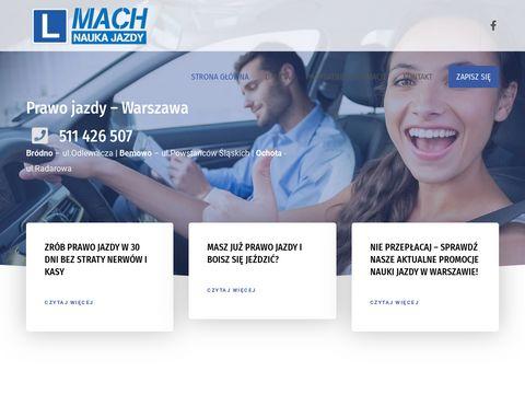 Mach.waw.pl - jazdy doszkalające