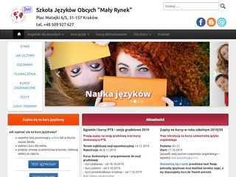 Mały Rynek - szkoła językowa Kraków