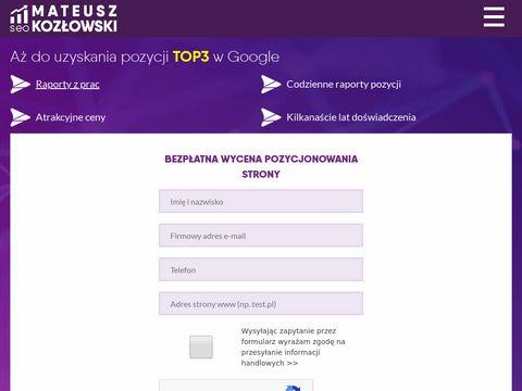 Mateuszkozlowski.pl pozycjonowanie