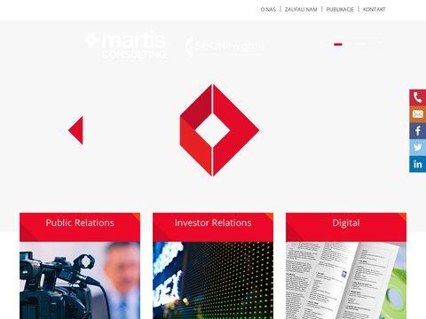 Martis-consulting.pl komunikacja z inwestorami