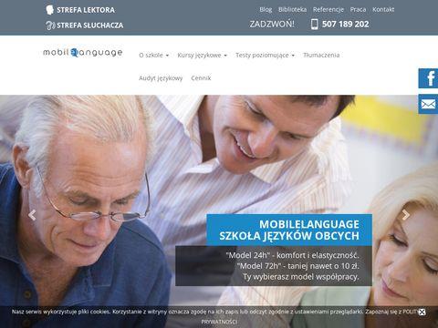 Mobilelanguage.pl szkoła językowa
