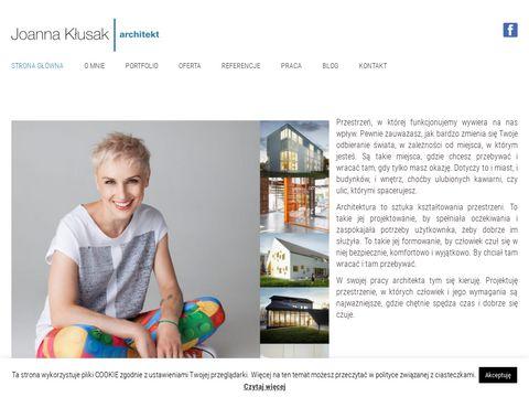 Joannaklusak.com projekty budowlane wnętrz