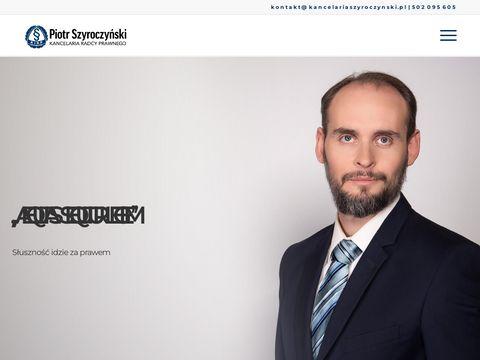 Kancelariaszyroczynski.pl radca prawny