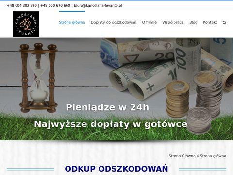 Kancelaria-levante.pl odkup odszkodowań