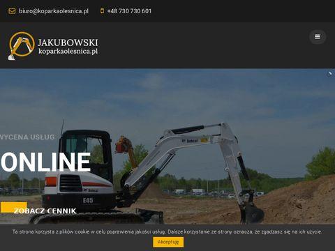 Koparkaolesnica.pl usługi wynajem