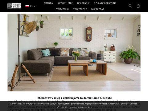 Homebeaute.com.pl wazony szklane lampy