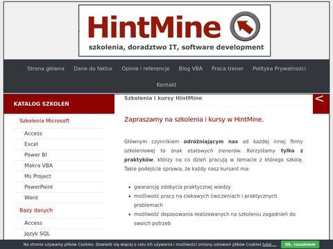 Hintmine.com szkolenia Access Łódź