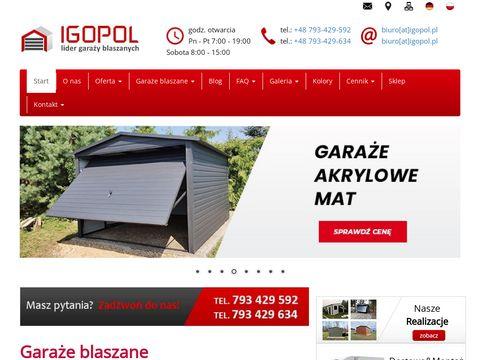 Igopol.pl blaszaki