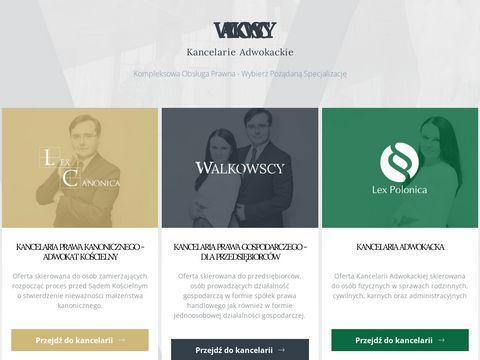 Walkowscy-kancelarie.pl prawa kanonicznego