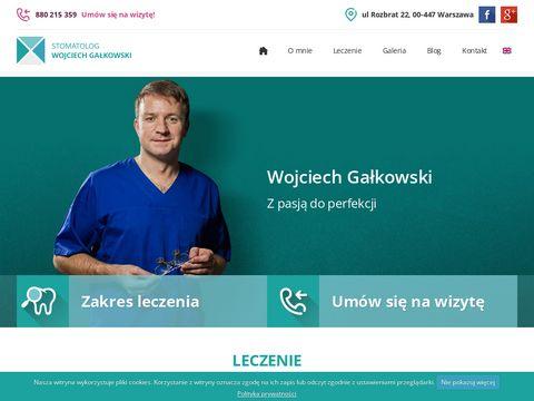 Wojciech Gałkowski ekstrakcja zęba