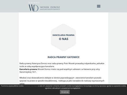 Wosiekdorosz.pl kancelaria Katowice