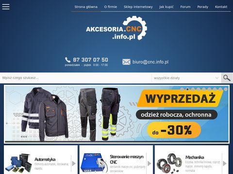 Akcesoria.cnc.info.pl - mechanika i automatyka